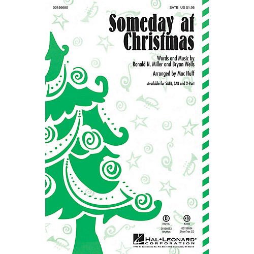 Hal Leonard Someday at Christmas SATB by Stevie Wonder arranged by Mac Huff-thumbnail