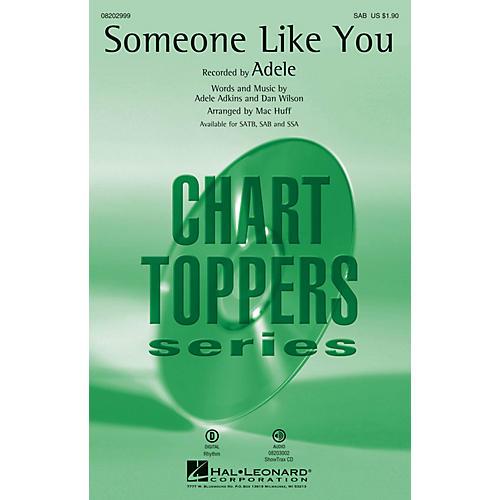 Hal Leonard Someone Like You SAB by Adele arranged by Mac Huff-thumbnail