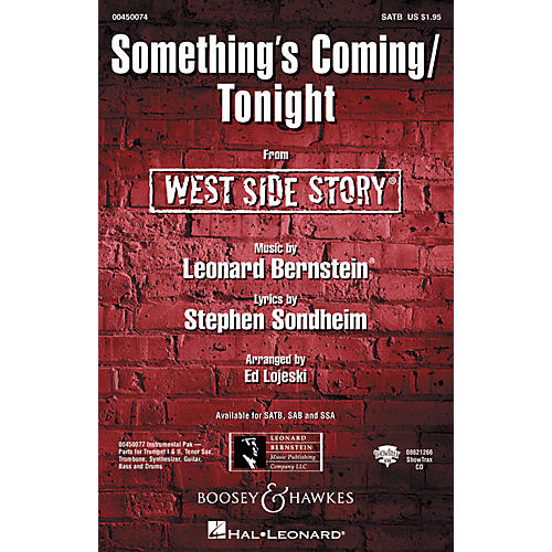 Hal Leonard Something's Coming/Tonight (from West Side Story) SATB Arranged by Ed Lojeski-thumbnail