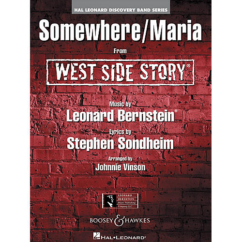 Hal Leonard Somewhere/Maria (from WEST SIDE STORY) Concert Band Level 1.5 Arranged by Johnnie Vinson-thumbnail