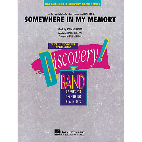 Hal Leonard Somewhere in My Memory (from HOME ALONE) Concert Band Level 1.5 Arranged by Paul Lavender-thumbnail