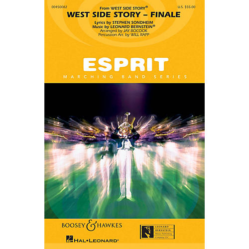 Hal Leonard Somewhere/tonight (from west Side Story) Full Score Marching Band-thumbnail