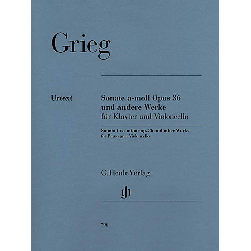 G. Henle Verlag Sonata A minor Op. 36 and Other Works (Cello and Piano) Henle Music Folios Series Softcover-thumbnail
