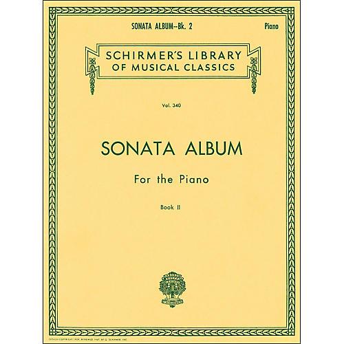 G. Schirmer Sonata Album Book 2 for Piano 11 Sonatas By Haydn, Mozart And Beethoven