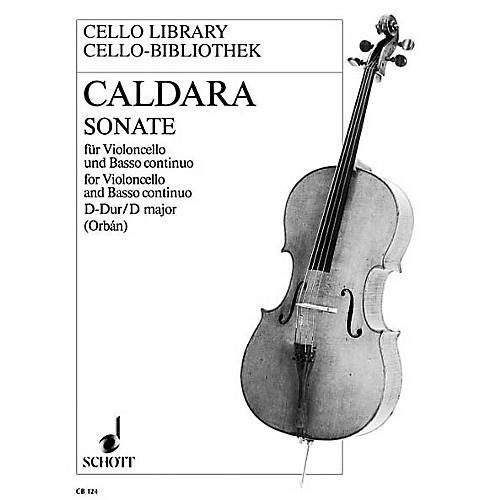 Schott Sonata D Major (Cello and Basso Continuo) Schott Series-thumbnail