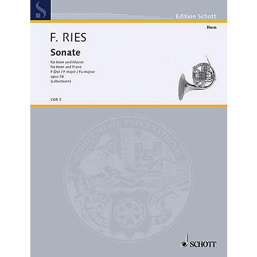 Schott Sonata F Major Op. 34 (Horn and Piano) Schott Series-thumbnail
