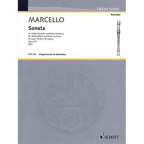 Hal Leonard Sonata For Treble Recorder And Basso Continuo Op 2 No 7 Woodwind Ensemble Series