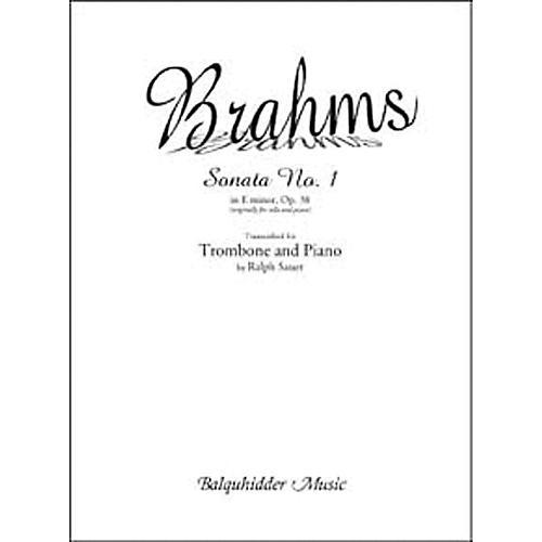 Carl Fischer Sonata No. 1 in E Minor, Op. 38 Book