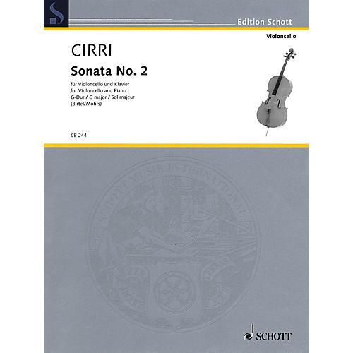 Schott Sonata No. 2 in G Major Schott Softcover Composed by Giovanni Battista Cirri Edited by Rainer Mohrs-thumbnail