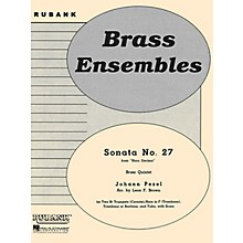 Rubank Publications Sonata No. 27 (from Hora Decima) (Brass Quintet - Grade 2) Rubank Solo/Ensemble Sheet Series