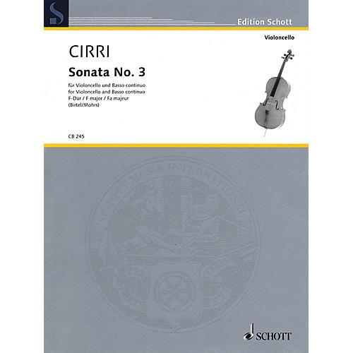 Schott Sonata No. 3 in F Major (Violoncello and Piano (Basso ad lib.)) String Series Softcover-thumbnail