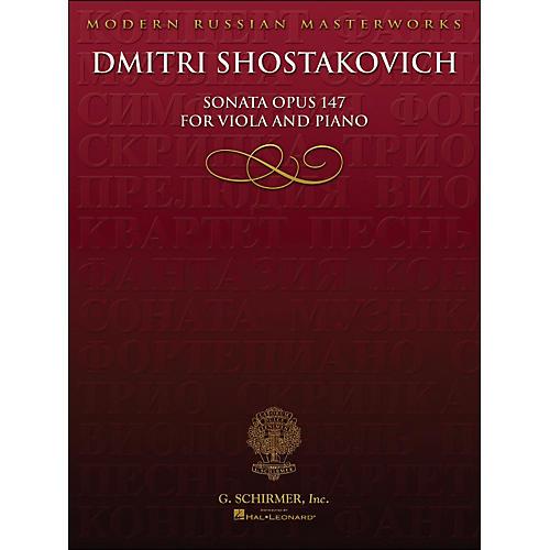 Hal Leonard Sonata Op 147 Viola Piano Library Of Russian Soviet Music By Shostakovich