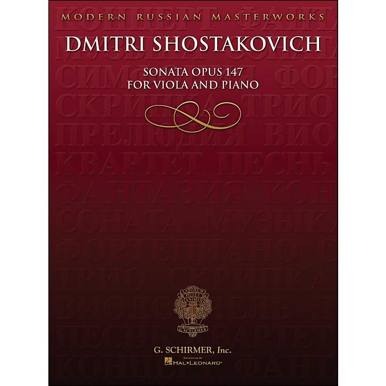Hal LeonardSonata Op 147 Viola Piano Library Of Russian Soviet Music By Shostakovich