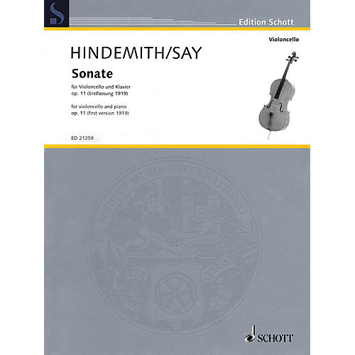 Schott Sonata Op. 11 for Cello and Piano (for Cello and Piano) String Series Softcover