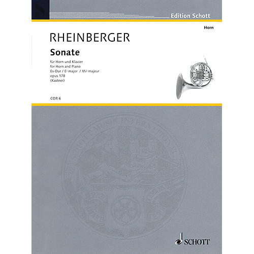 Schott Sonata Op. 178 E Flat Major (Horn and Piano) Schott Series-thumbnail