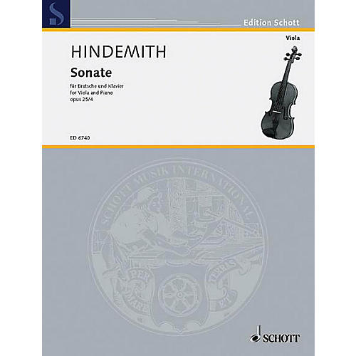 Schott Sonata, Op. 25, No. 4 (1922) (Viola and Piano) Schott Series-thumbnail