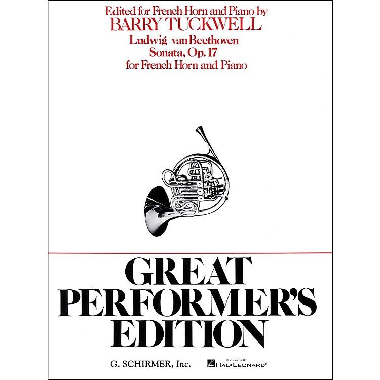 G. SchirmerSonata Op17 F Hrn/Pno Great Performers Edition