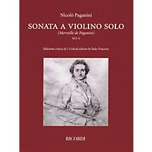 Ricordi Sonata a Violino Solo (Critical Edition by Italo Vescovo) String Series Softcover