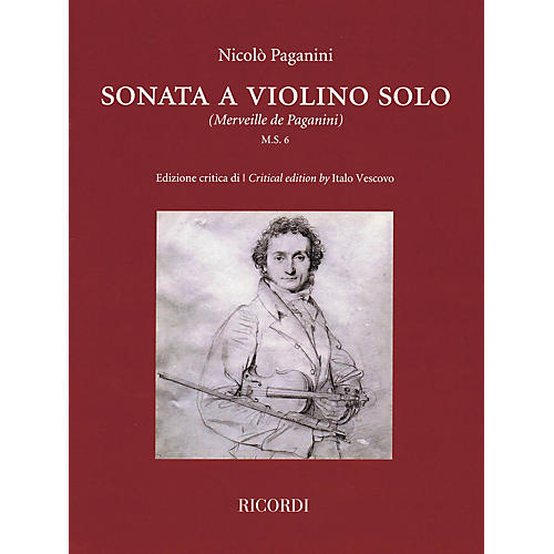 Ricordi Sonata a Violino Solo (Critical Edition by Italo Vescovo) String Series Softcover-thumbnail