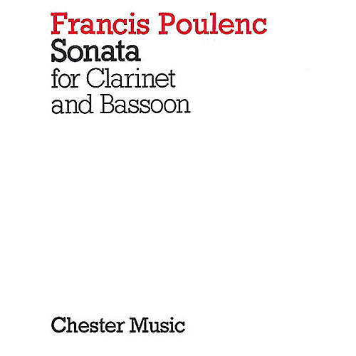 Chester Music Sonata for Clarinet and Bassoon Music Sales America Series Composed by Francis Poulenc-thumbnail