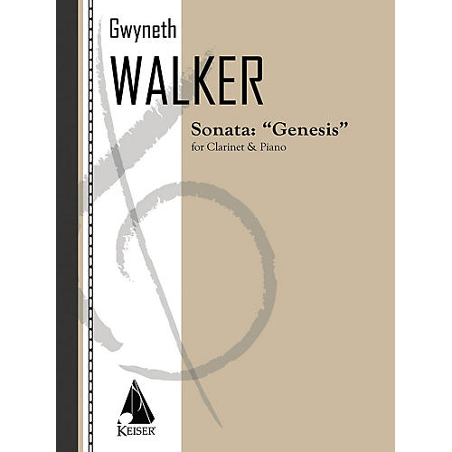 Lauren Keiser Music Publishing Sonata for Clarinet and Piano: Genesis LKM Music Series Composed by Gwyneth Walker