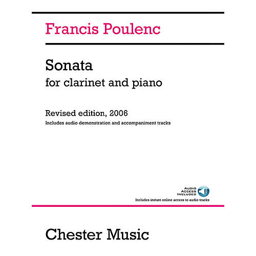 Chester Music Sonata for Clarinet and Piano Music Sales America Series Softcover Audio Online-thumbnail