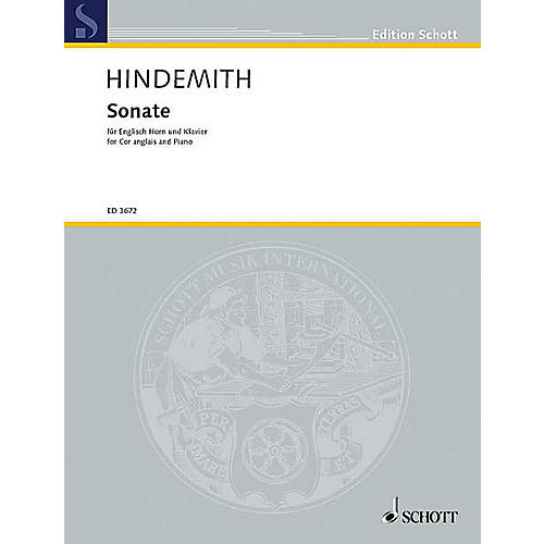 Schott Sonata for English Horn and Piano (English Horn and Piano) Schott Series