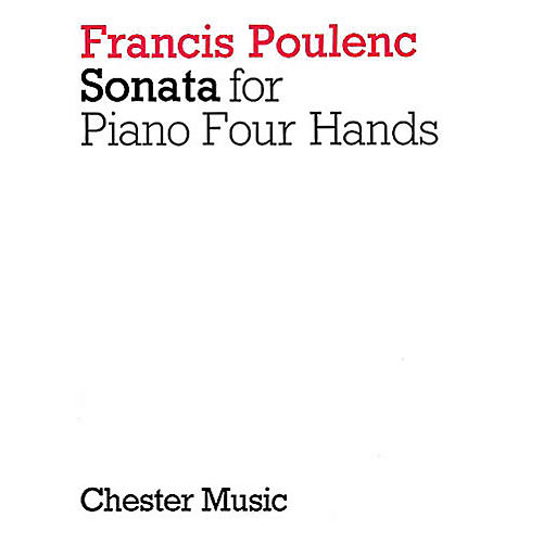 Chester Music Sonata for Piano 4 Hands Music Sales America Series