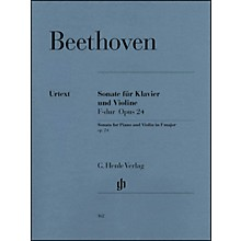 G. Henle Verlag Sonata for Piano And Violin F Major Op. 24 (Spring Sonata) By Beethoven