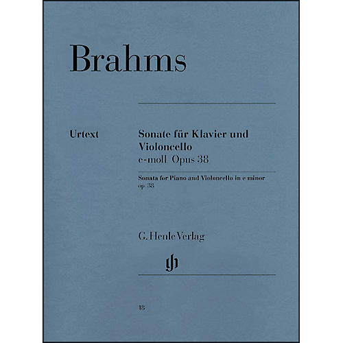 G. Henle Verlag Sonata for Piano And Violoncello E Minor Op38 By Brahms