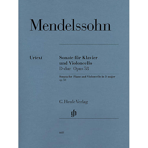 G. Henle Verlag Sonata for Piano and Violoncello D Major Op. 58 (Cello and Piano) Henle Music Folios Series Softcover-thumbnail