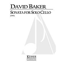 Lauren Keiser Music Publishing Sonata for Solo Cello LKM Music Series Composed by David Baker
