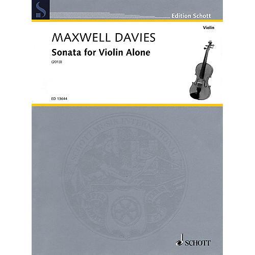 Schott Sonata for Violin Alone String Solo Series Softcover-thumbnail