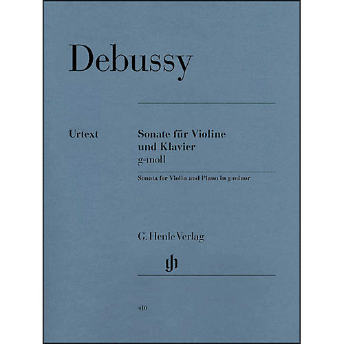 G. Henle Verlag Sonata for Violin And Piano In G Minor By Debussy-thumbnail
