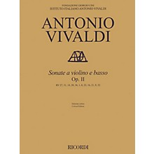 Ricordi Sonata for Violin and Basso Continuo, Op. 2 String Series Softcover Composed by Antonio Vivaldi