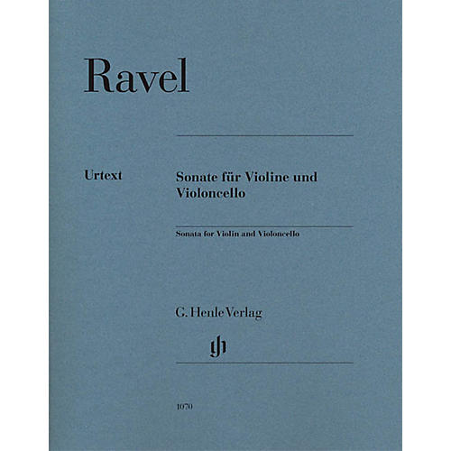 G. Henle Verlag Sonata for Violin and Violoncello Henle Music Folios Series Softcover Composed by Maurice Ravel-thumbnail