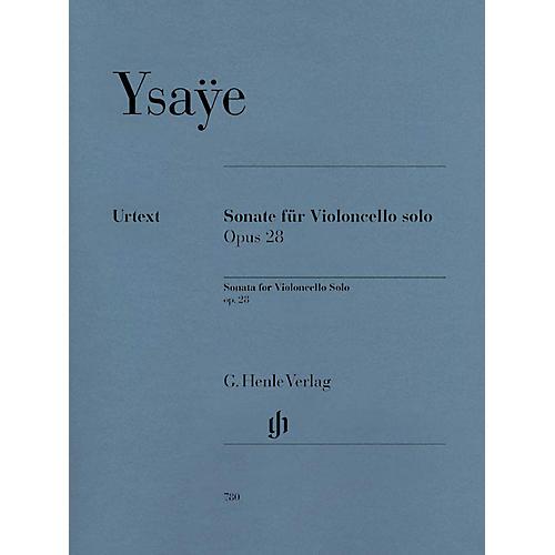 G. Henle Verlag Sonata for Violoncello Solo Op. 28 Henle Music Folios Series Softcover