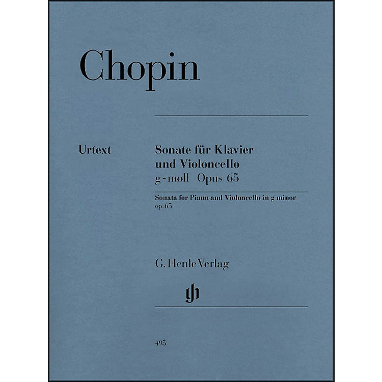 G. Henle VerlagSonata for Violoncello and Piano G minor Op. 65 By Chopin