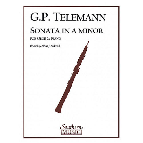 Southern Sonata in A Min Southern Music Series by Georg Philipp Telemann Arranged by Albert Andraud-thumbnail