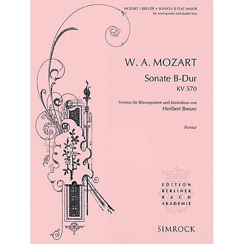 Simrock Sonata in B-Flat Major, K. 570 Composed by Wolfgang Amadeus Mozart Arranged by Heribert Breuer