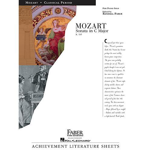 Faber Piano Adventures Sonata in C Major (K545) Faber Piano Adventures® Series Composed by Wolfgang Amadeus Mozart-thumbnail