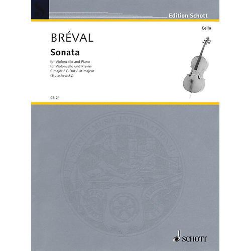 Schott Sonata in C Major, Op. 42 (Cello and Piano) Schott Series-thumbnail