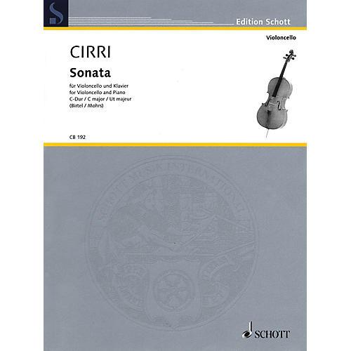 Schott Sonata in C Major (Violoncello and Piano) String Series Softcover