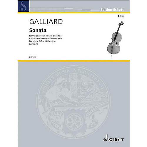 Schott Sonata in D Major (Cello and Basso Continuo) Schott Series-thumbnail