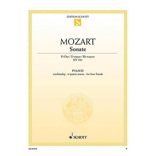 Schott Sonata in D Major, KV 381 Schott Series-thumbnail