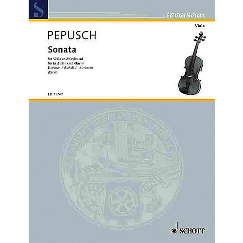 Schott Sonata in D minor (Viola and Piano) Schott Series