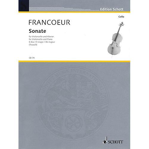 Schott Sonata in E Major (Cello and Piano) Schott Series-thumbnail