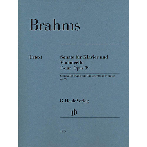 G. Henle Verlag Sonata in F Major Op. 99 for Piano and Violoncello Henle Music Folios Series Softcover by Johannes Brahms-thumbnail