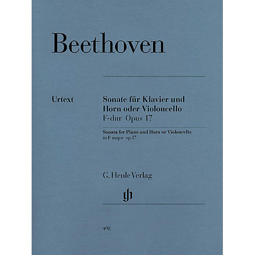 G. Henle Verlag Sonata in F Major for Piano and Horn (or Violoncello) Op. 17 Henle Music Folios Series Softcover-thumbnail