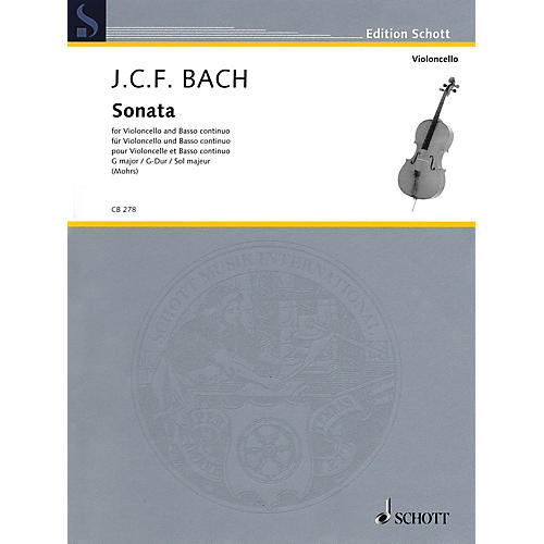 Schott Sonata in G Major (Cello and Basso Continuo) String Series